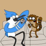 Mordecai and Rigby by SupaKoopa714