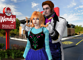 Frozen Funny - Anna goes to Wendy's by DeathsFugitive