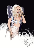Lady Gaga - Bad Romance, The Monster Ball by RowenaJackson