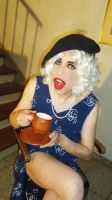 Ms. Delfy sharing a cup of tea by AlejandraSandHesse