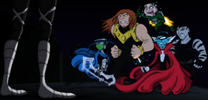 Teen Titans - Villains vs Villain by DarkenedSparrow