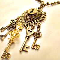 Alice Skeleton Keys Necklace by SteamSociety