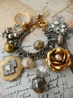 Faded glamour charm bracelet by janedean