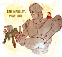 Play Nice -Iron Giant by Arkham-Insanity