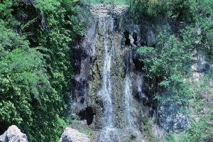 Chinese Tea Garden Waterfall by thecrow1299