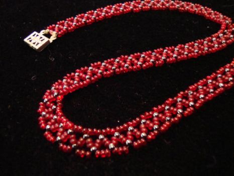 Seed Bead Necklace by NightShrike