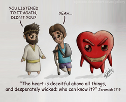 Cartoon 17 - Deceiving Heart by eJcalado