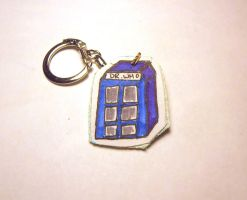 Dr Who Booth Keychain by idont0know