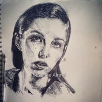Jourdan Miller drawing by SuzanneAl-Rawi