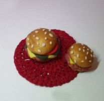 burger magnets by strictlyhandmade