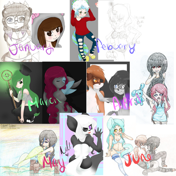 2014 Art Summary (part 1) by SinnersOfTheHeart