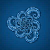 Spiral Flower Fractal in Blue by Susyspider