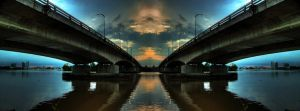 Double Reflection Twin Bridge by limecity