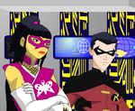 Young Justice  Robin and Geisha by KiteBoy1