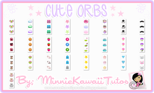 Pack De 25 Cute Orbs by MinnieKawaiiTutos