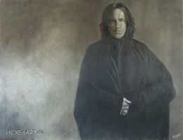 Severus Snape Mixed Media by HEXEnART
