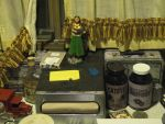 Random closeup of my dining table in my trailer by emptysamurai
