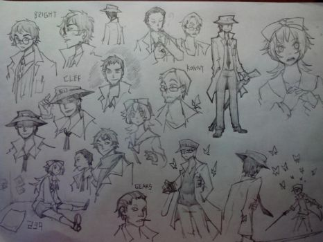 SCP sketchdump by BloodNoryana