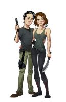 Glenn and Maggie by pungang