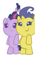 Twilight and Comet play hide and seek by 3D4D