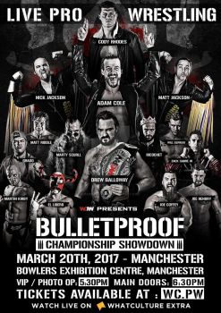 WCPW Bulletproof Official poster by Ahmed-Fahmy