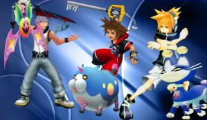 Kingdom Hearts 3D: Warriors and Spirts by VexenRandomDrawerGuy