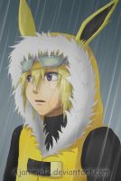 Jolteon in the Rain by AJanime12