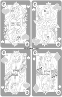 Card Queens sketches by berrynerdy