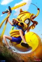 Jake the Snake - Adventure Time - by DanLuVisiArt
