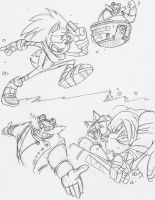 Sonic Boom Doodles by BlueIke