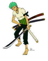 Zoro Colored and Stuff by Marimokun