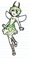 Celebi Gijinka for Crazehtailsfan by Prushia