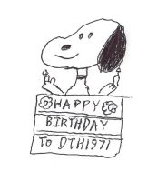 Snoopy comes out of a birthday cake by dth1971