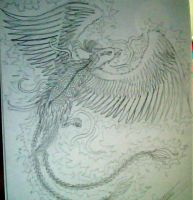 phenix tattoo uncoloured by nanycoy