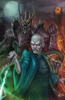 Sauron and Voldemort by Puekkers