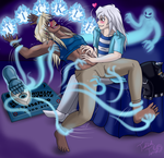 Ryou and Malik: Ticklish Seance by TicklishTouch