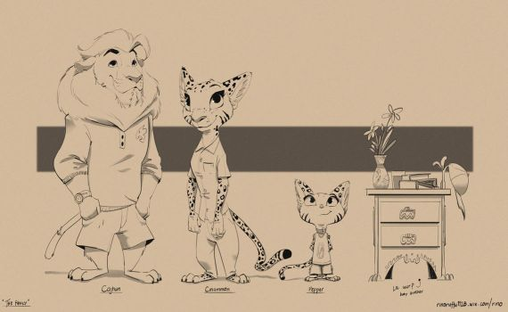 Pepper Family Lineup by Ruffu