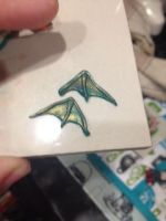 Dragon Wing earings by Madebyelm