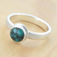 Turquoise Ring by metalsmitten