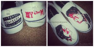 My Chemical Romance Shoes! by Gerard-Way-is-my-luv