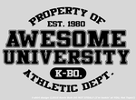 """Awesome University"" T-Shirt by kevinbolk"