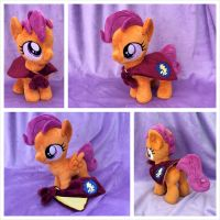 Scootaloo Plushie w/Cape by equinepalette