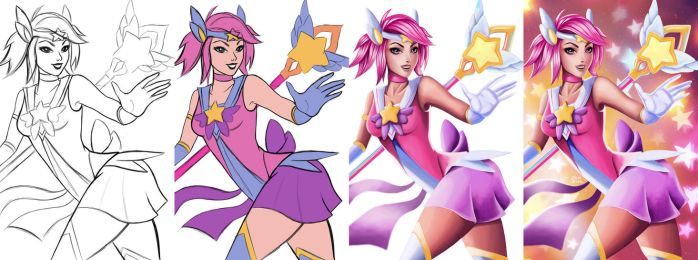 Process - Star Guardian Lux by jaleh