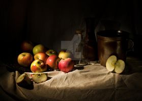 Still life with apples I by Jablam