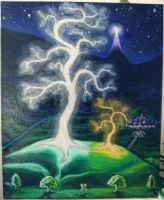 creation of the two trees by nienor