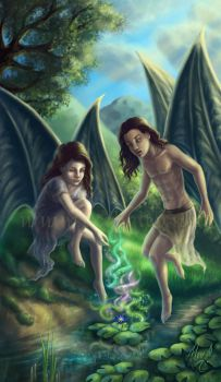 Young Maeliux and Meridae by Aerhalev