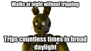 Springtrap is NOT amused #1 by TwilightAngelTM