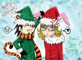 Tiger and Bunny Say HAPPY HOLIDAYS by AoiGetsueiAwai