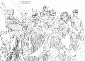 Justice League! by Sandoval-Art
