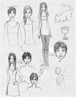 City of Bones- Sketches by baileykitten